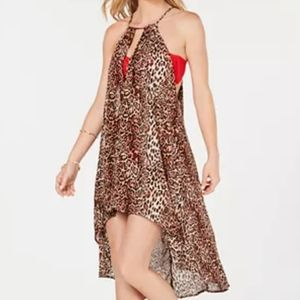 INC Leopard-Print Beach Dress